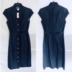 Dress Barn Blue Denim Dress with Button Detail